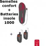 Semelles chauffantes Heat Sole 3.0 Lenz + batterie lithium pack insole 1000