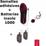 Semelles chauffantes Heat Sole 2.0 Lenz + batterie lithium pack insole 1000