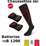 Chaussettes chauffantes ski Heat Sock 1.0 Lenz + batteries lithium pack rcB1200