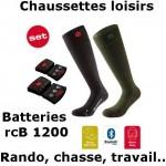 Chaussettes chauffantes Heat Sock 3.0 Lenz + batteries lithium pack rcB1200