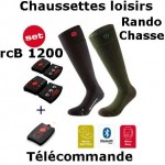 Chaussettes chauffantes Heat Sock 3.0 Lenz + batteries lithium pack rcB1200 + télécommande