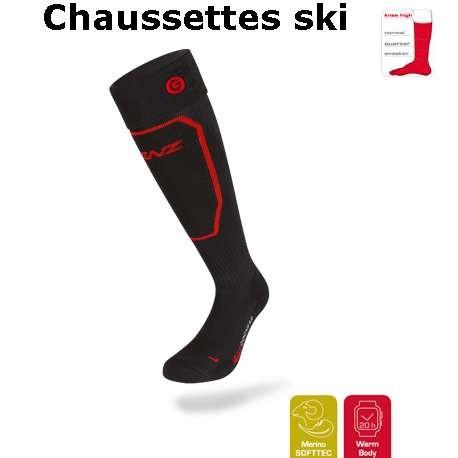 Chaussette ski chauffante lenz