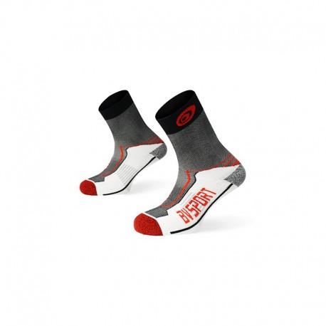 Chaussettes Rando Double Polyamide BV Sport - noir/rouge