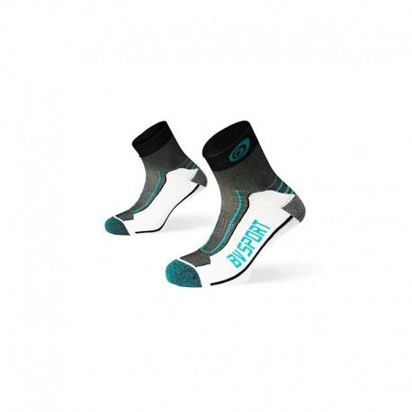 Chaussettes Tige Basse Rando Double Polyamide BV Sport - noir/turquoise