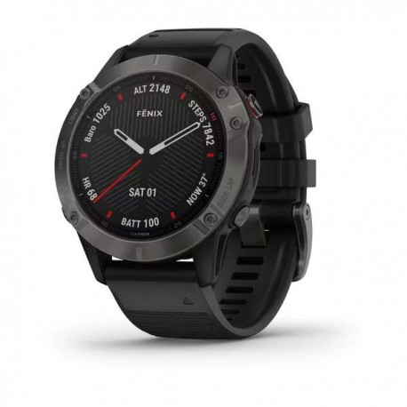 Fenix 6 - Sapphire - Black noire - bracelet noir