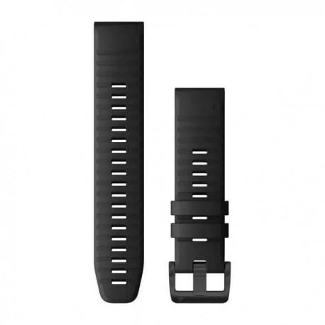 Bracelet Silicone noir avec fermoir noir - QuickFit 22 - Fenix 6 - 010-12863-00