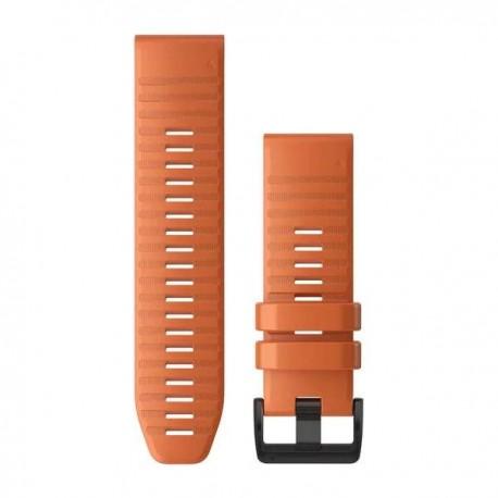 Bracelet Silicone orange vif avec fermoir noir - QuickFit 26 - Fenix 6X - 010-12864-01