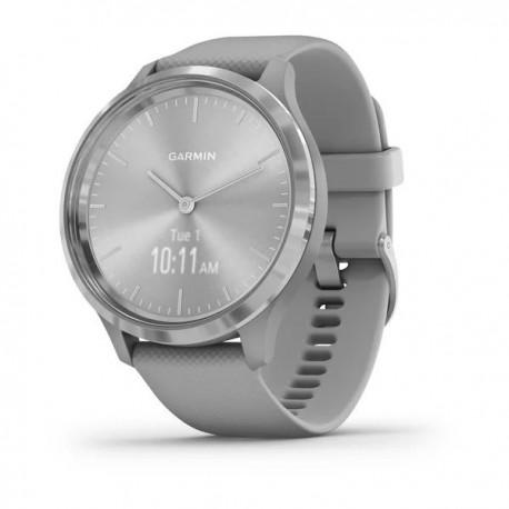 Montre Vivomove 3 - Lunette silver en acier inoxydable avec bracelet en silicone et boîtier gris clair