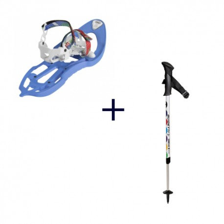 Pack raquettes junior 302 Freeze TSL + bâtons One Clic Enfant Guidetti