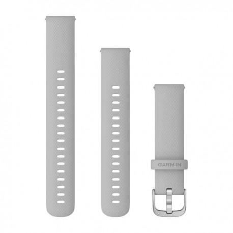 Bracelet Venu 2S - Silicone gris clair avec boucle Silver - 18 mm - 010-12932-0C