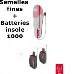 Semelles chauffantes Heat Sole 1.0 Lenz + batterie lithium pack insole 1000