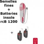 Semelles chauffantes Heat Sole 1.0 Lenz + batterie lithium pack insole 1200