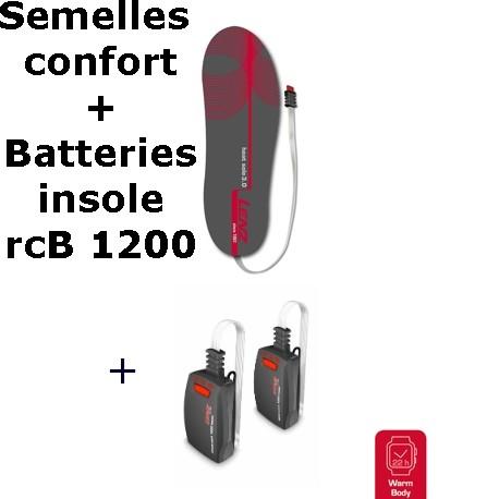 Semelles chauffantes Heat Sole 3.0 Lenz + batterie lithium pack insole rcB 1200