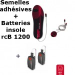 Semelles chauffantes Heat Sole 2.0 Lenz + batterie lithium pack insole 1200