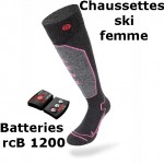 Chaussettes chauffantes ski Heat Sock 1.0 women Lenz + batteries lithium pack