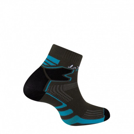Chaussettes Trail Double Skin gris/bleu Thyo