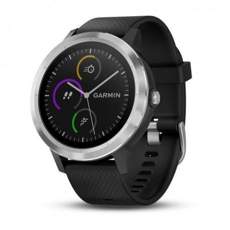Montre Vivoactive 3 Garmin - Silver avec bracelet silicone noir