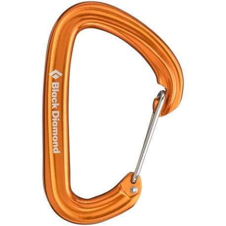 Mousqueton d'escalade petite et grande voie HotWire Black Diamond - orange BD