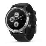 Montre Fenix 5S Plus Garmin - Silver noire avec bracelet noir