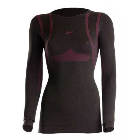 T-shirt manches longues Women 1.0 Lenz - noir/rouge - avant