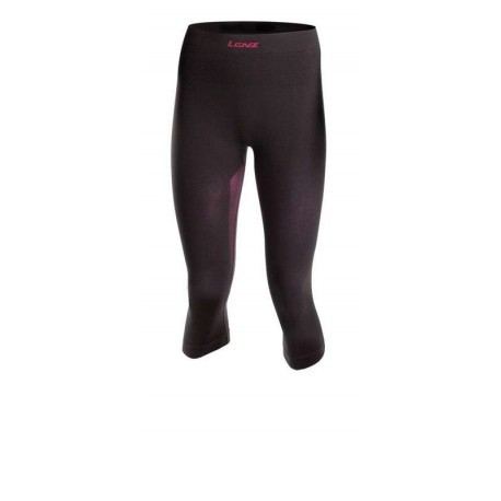Collant 3/4 femme Pants Women 1.0 Lenz - noir/rouge - avant