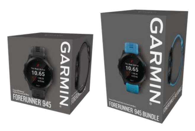 Package de la montre Forerunner 945 Garmin